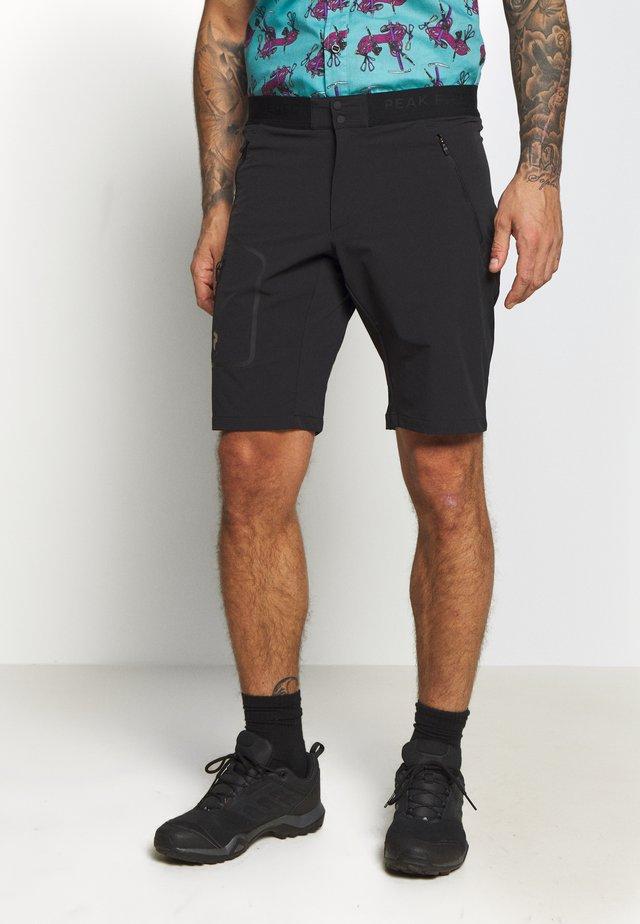 LIGHT SOFTSHELL SHORTS - Outdoor shorts - black