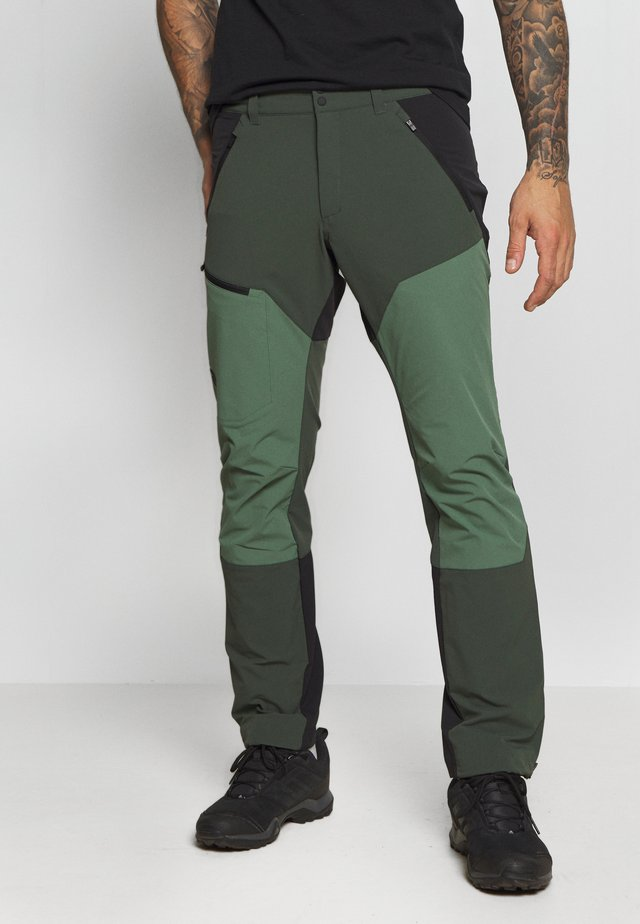 LIGHT CARBON PANTS - Długie spodnie trekkingowe - drift green