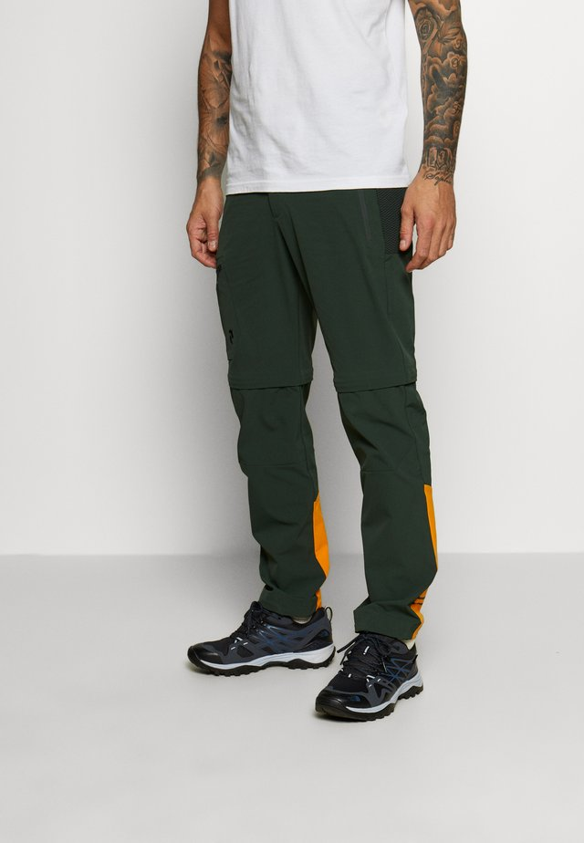VISLIGHT ZIP OFF PANT - Stoffhose - drift green