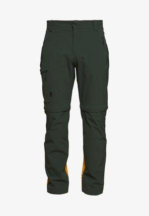 VISLIGHT ZIP OFF PANT - Spodnie materiałowe - drift green