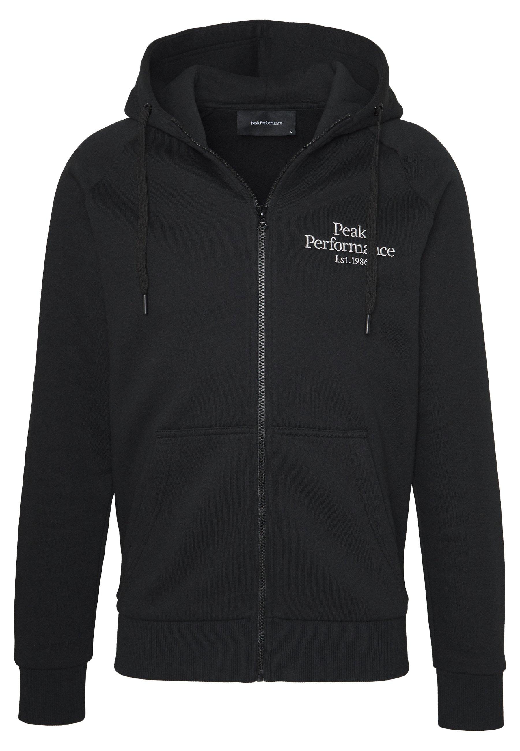 Peak Performance ORIGINAL ZIP HOOD - Bluza rozpinana - black