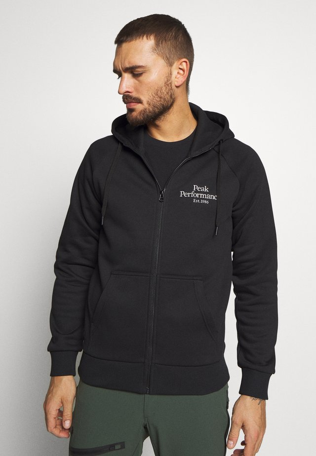ORIGINAL ZIP HOOD - Sweatjacke - black