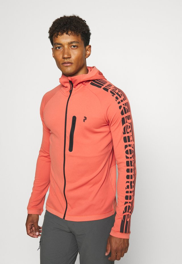 POWER ZIP HOOD - Treningsjakke - clay red