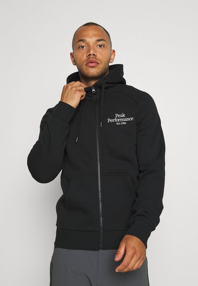 ORIGINAL ZIP HOOD - Hettejakke - black