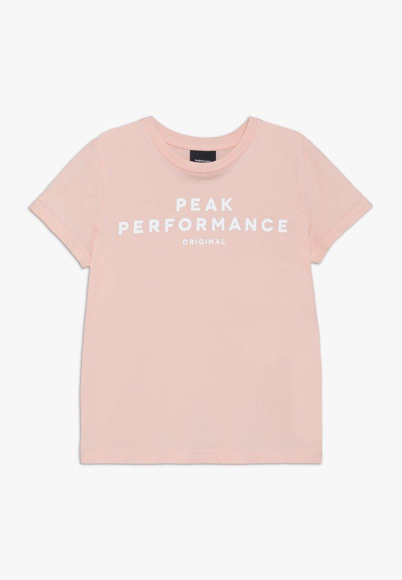 Peak Performance - T-shirt med print - pink champagne