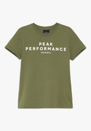 Print T-shirt - leaflet green