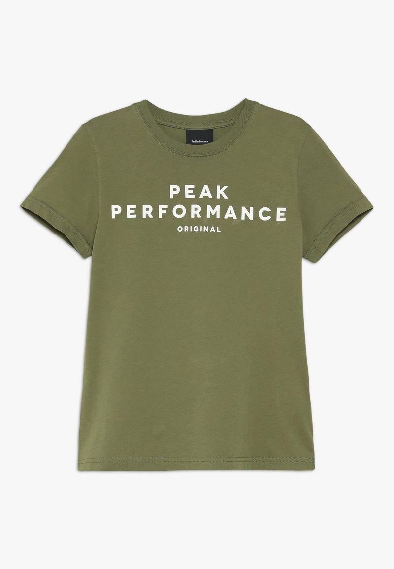 Peak Performance - T-shirt med print - leaflet green