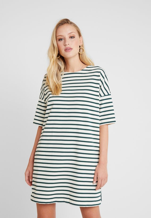 CLAIRE - Jersey dress - coquille/sousbois