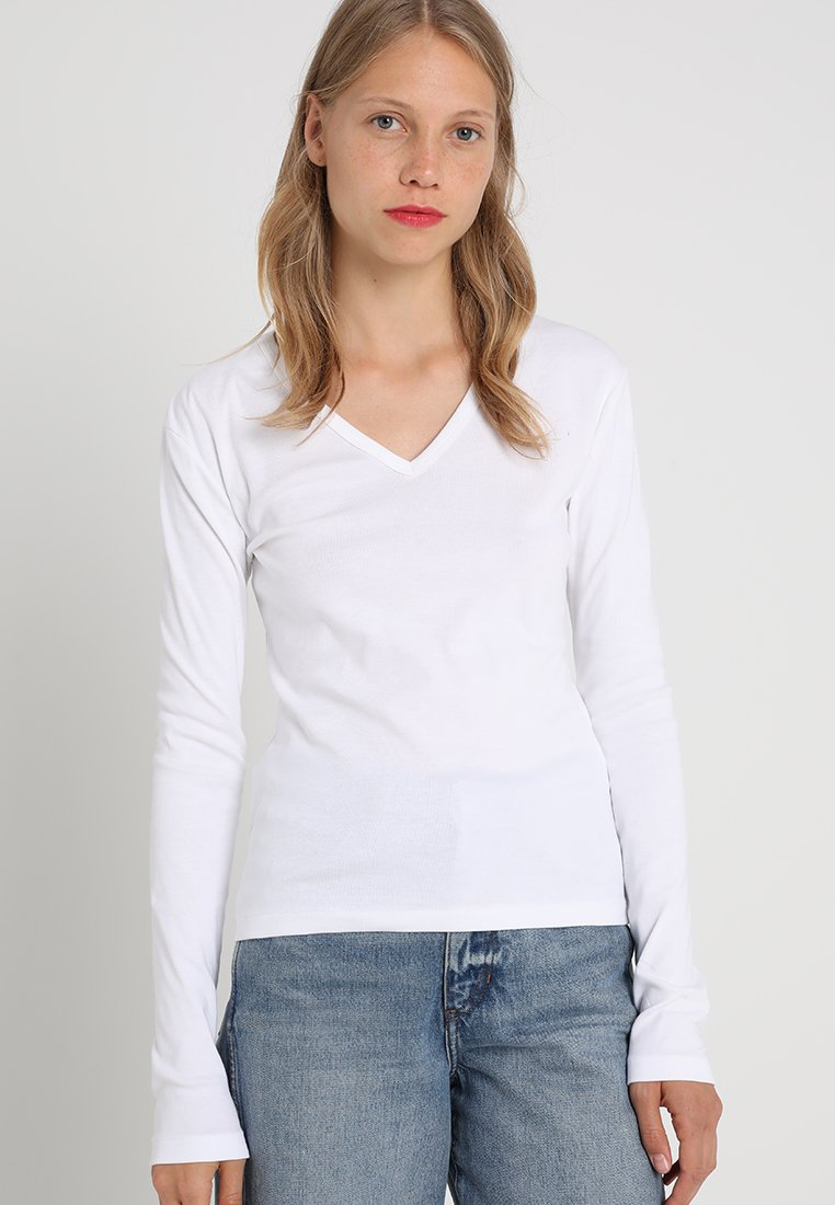 Petit Bateau - TEE - Long sleeved top - white