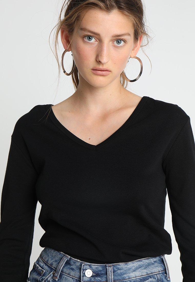 Petit manches shirt à Bateau TEET noir longues gf76vYby