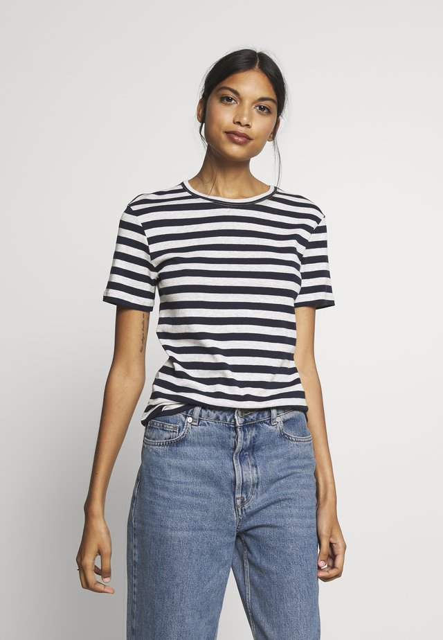 TEE SHIRT  - T-shirt med print - smoking/beluga