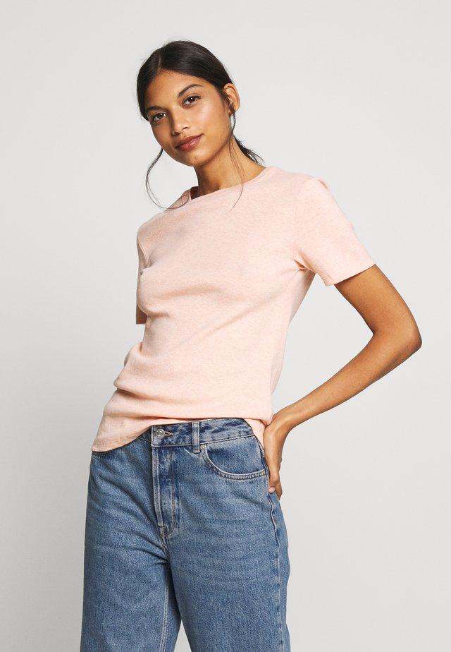 TEE - T-Shirt basic - aster chine