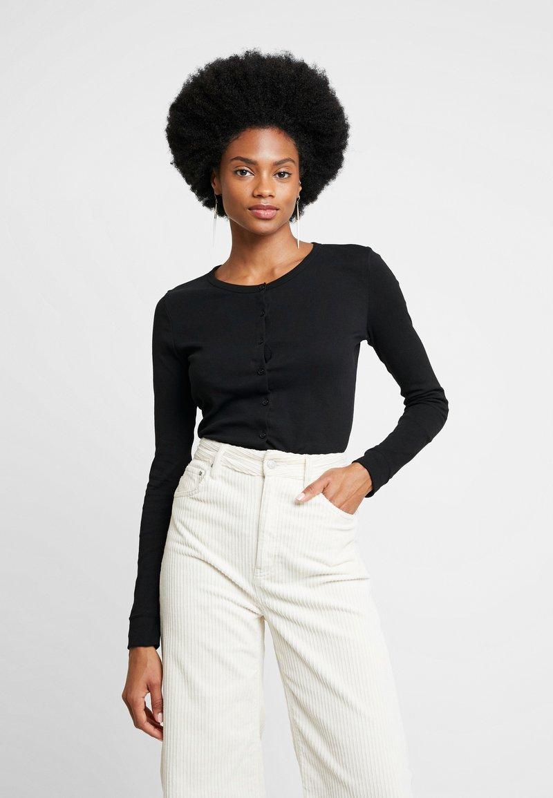 Petit Bateau - CARDIGAN - Long sleeved top - noir
