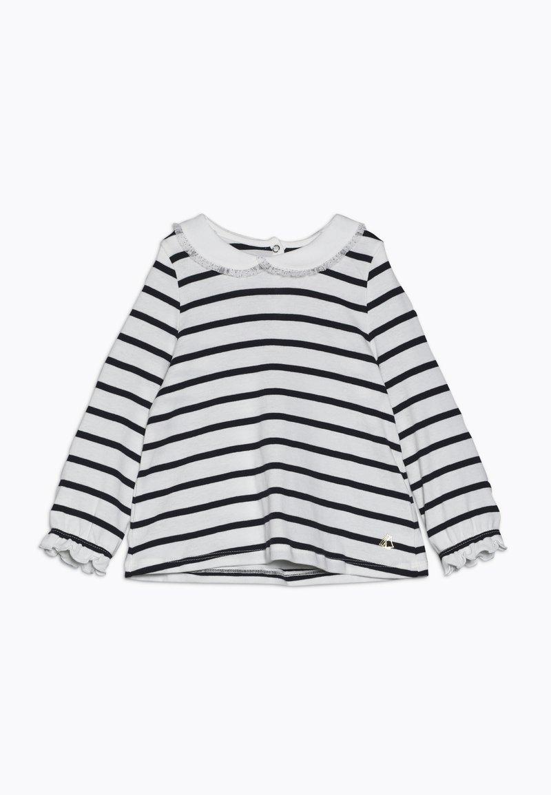 Petit Bateau - BLOUSE BABY - Långärmad tröja - marshmallow/smoking