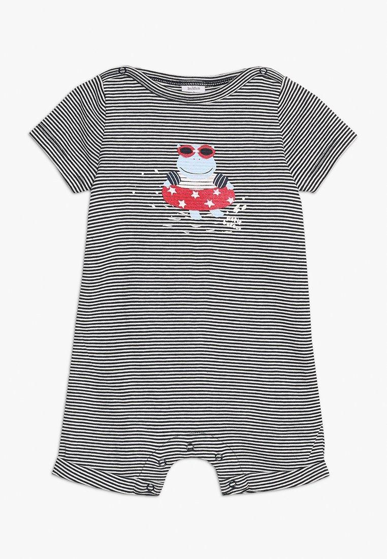 Petit Bateau - BARIA COMBINAISON COURTE VET BABY - Jumpsuit - smoking/marshmallow