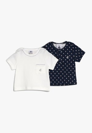 LOT AIS TEE 2 PACK - T-Shirt print - dark blue