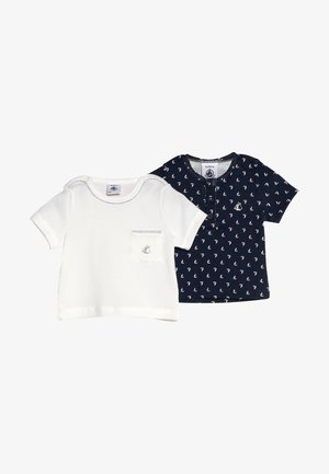 LOT AIS TEE 2 PACK - T-shirt imprimé - dark blue
