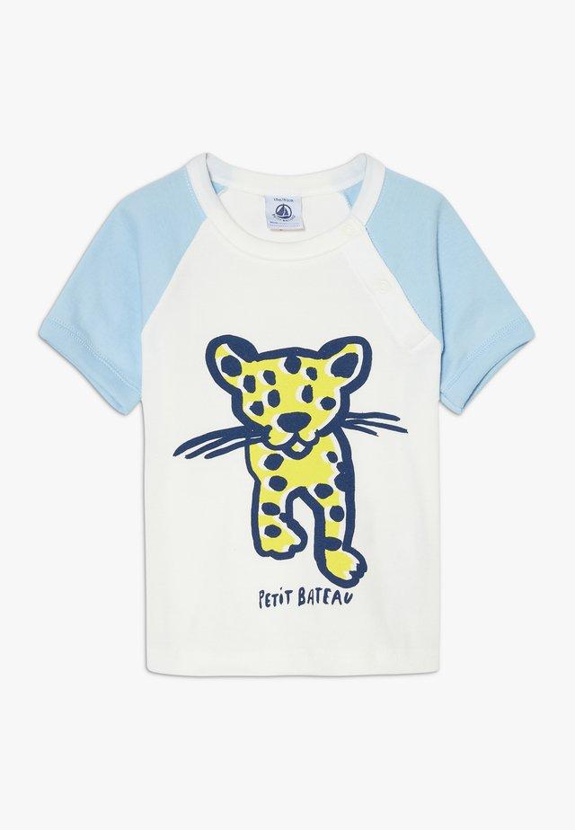 TEE - T-shirt print - marshmallow/jasmin