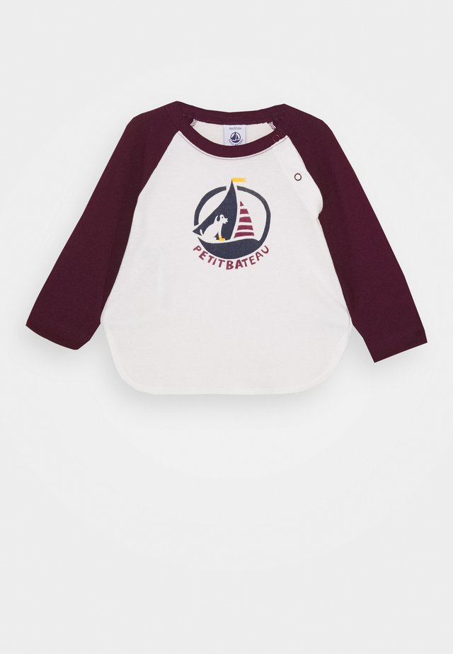 BABY TEE - Long sleeved top - marshmallow/cepage