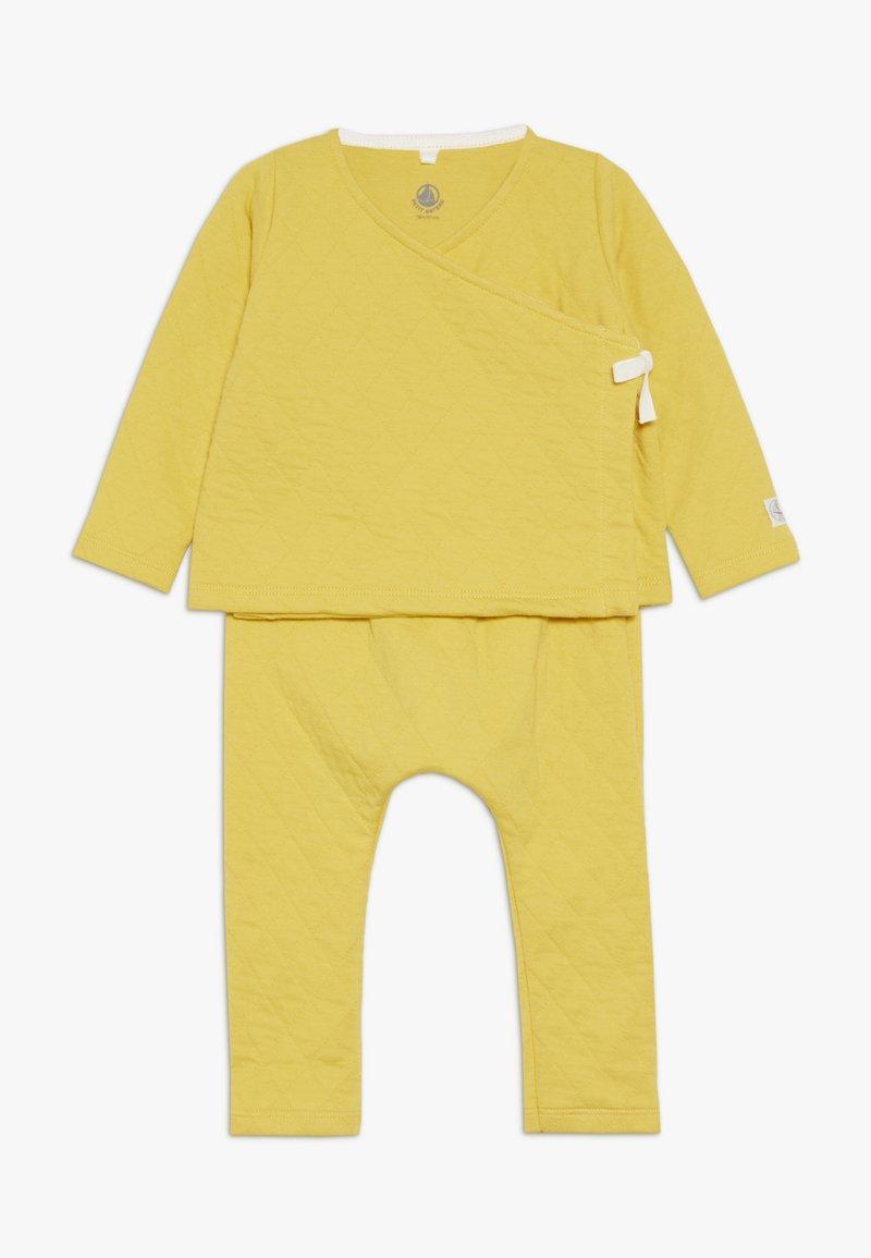 Petit Bateau - ENSEMBLE BABY SET - Pantaloni - yellow