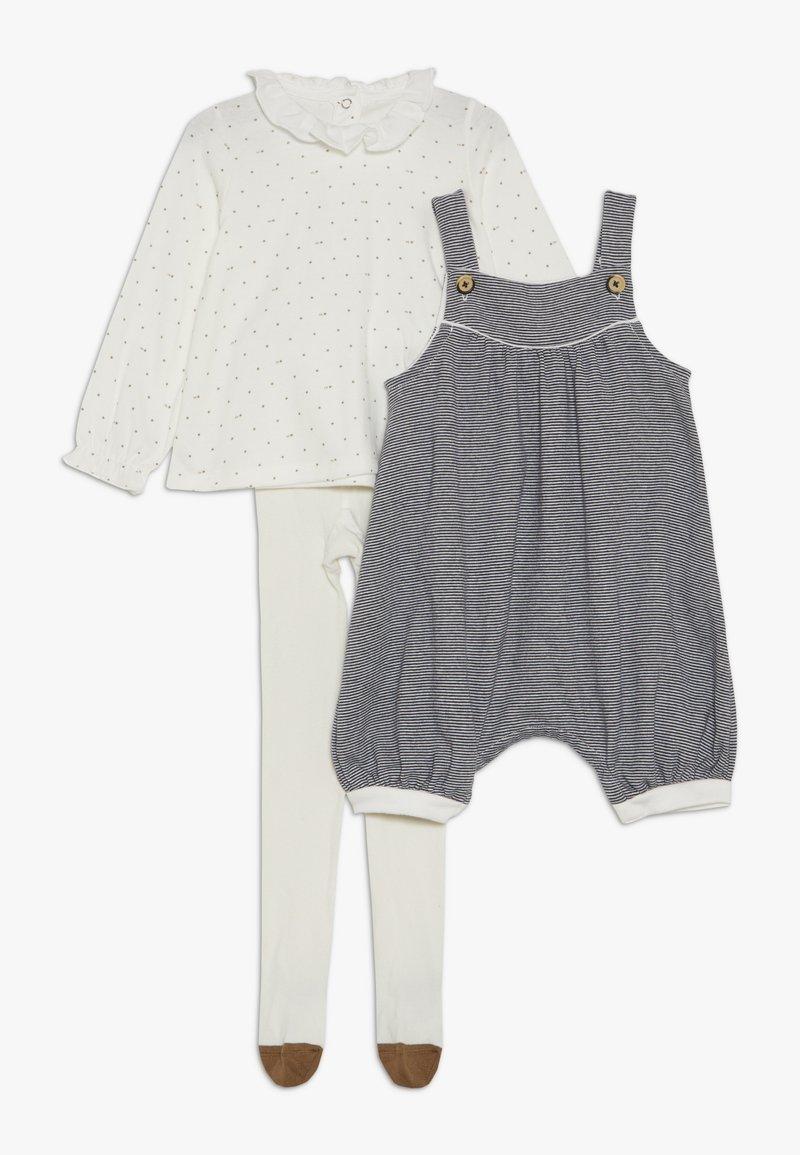 Petit Bateau - ENSEMBLE BABY SET - Overall /Buksedragter - white