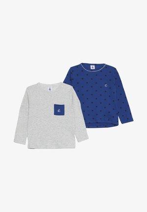 BABY 2 PACK - Long sleeved top - dark blue/white