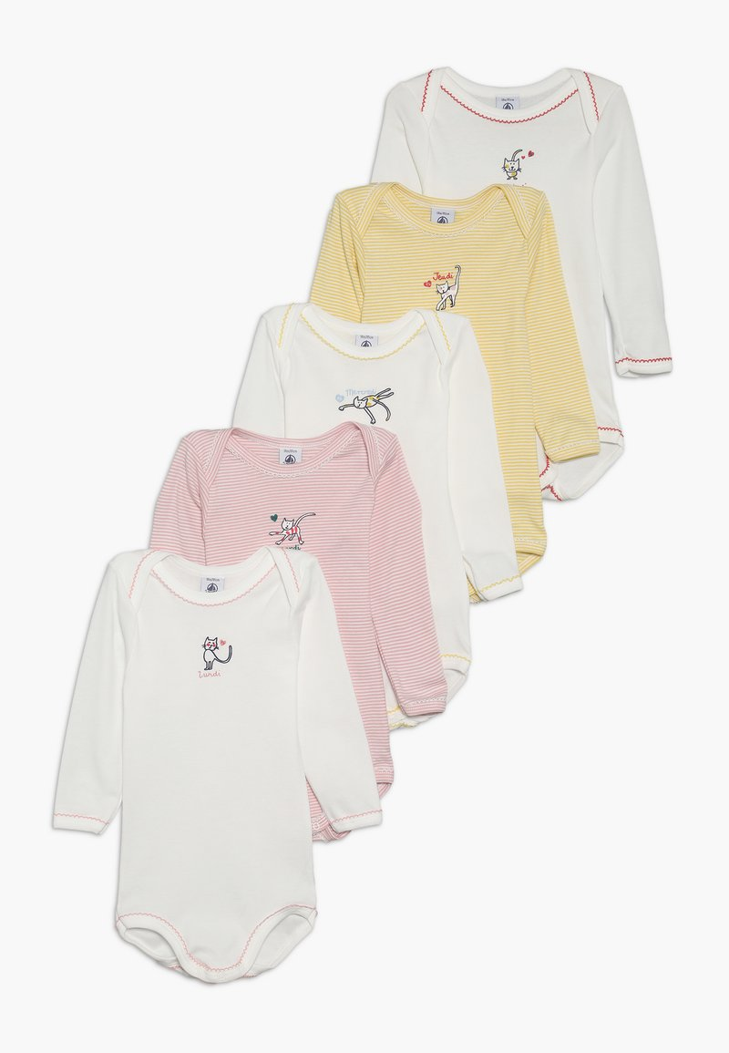 Petit Bateau - BABY 5 PACK - Body - pink/off-white