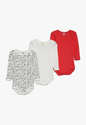 BABY 3 PACK - Body - red/off white