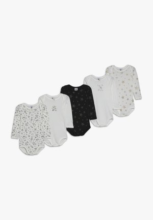 BABY 5 PACK - Body - dark grey/offwhite