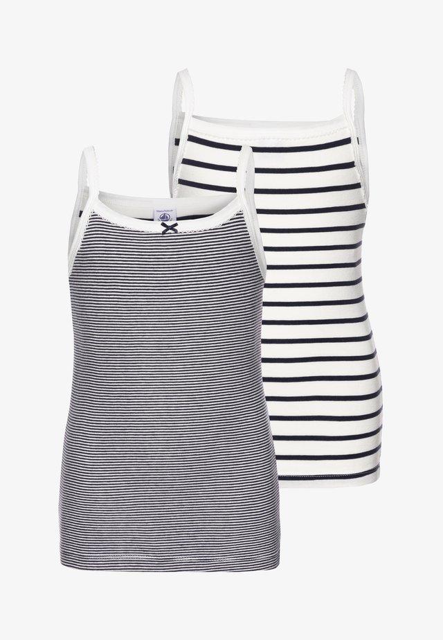 LOT 2 PACK  - Unterhemd/-shirt - white/blue