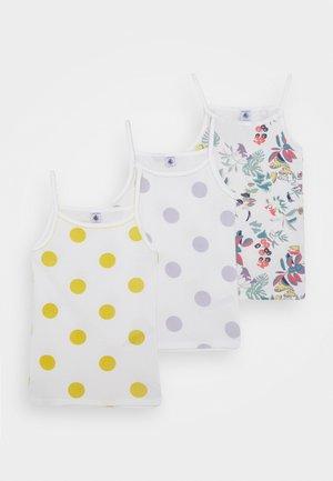 3 PACK - Camiseta interior - yellow/purple