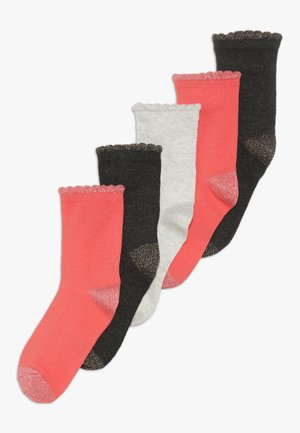 CHAUSS 5 PACK - Socks - pink/mottled grey/dark blue