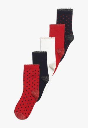 CHAUSSETTES 5 PACK - Socks - red/white/dark blue