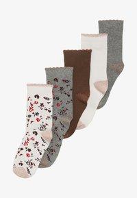 Petit Bateau - CHAUSS 5 PACK - Socks - mottled grey/light pink - 5