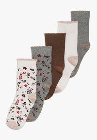 Petit Bateau - CHAUSS 5 PACK - Socks - mottled grey/light pink - 0