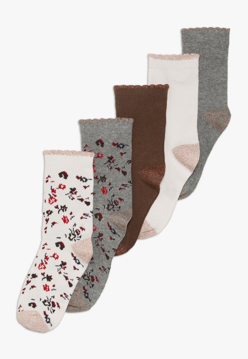 Petit Bateau - CHAUSS 5 PACK - Socks - mottled grey/light pink