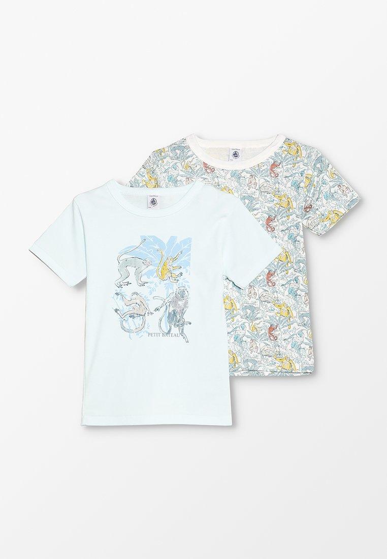 Petit Bateau - TEE 2 PACK - Unterhemd/-shirt - blue