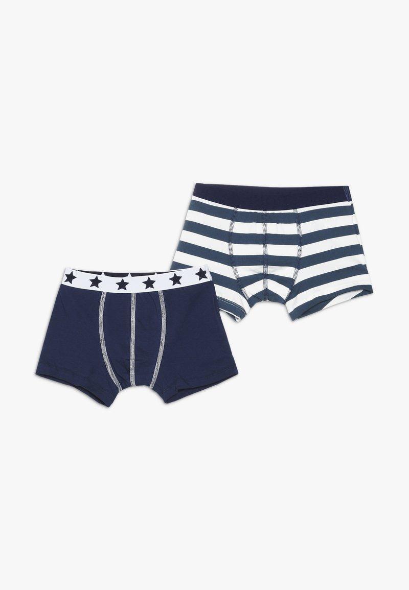 Petit Bateau - BOXERS 2 PACK - Pants - white/blue