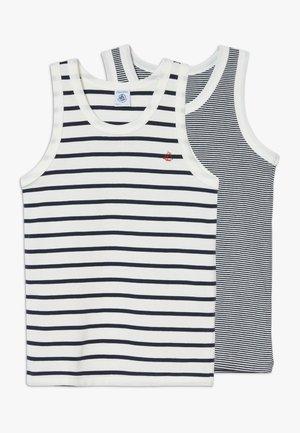 DEBARDEURS 2 PACK - Undershirt - white/blue
