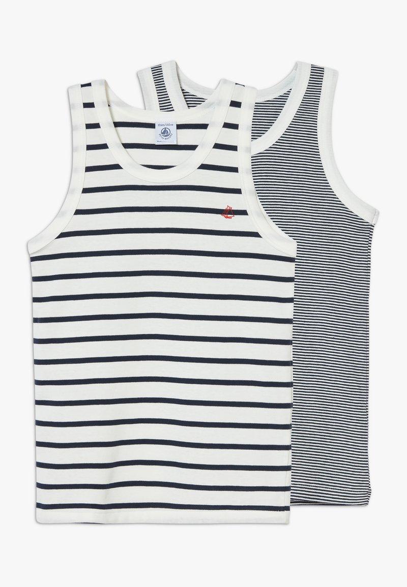 Petit Bateau - DEBARDEURS 2 PACK - Undershirt - white/blue
