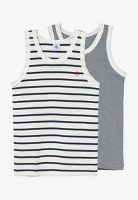 Petit Bateau - DEBARDEURS 2 PACK - Undershirt - white/blue - 3