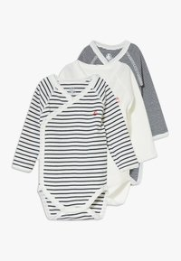 Petit Bateau - NAISS 3 PACK - Body - marshmallow/smoking - 0