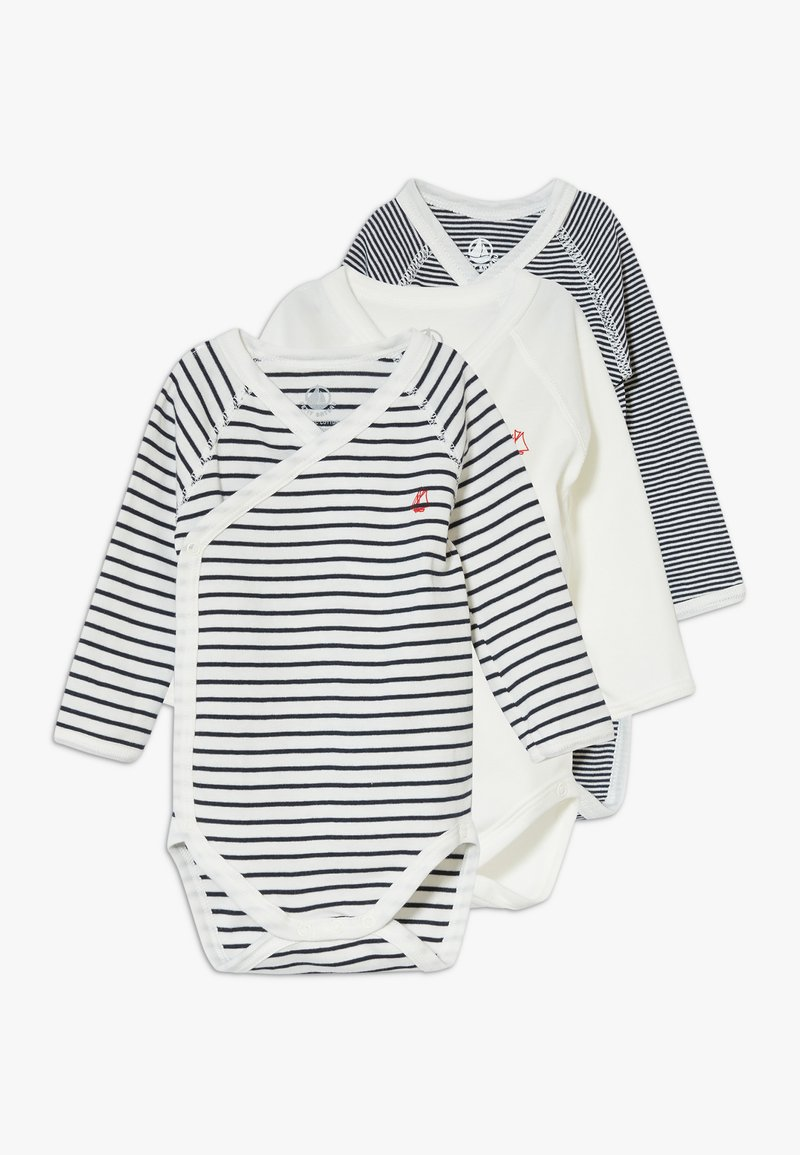 Petit Bateau - NAISS 3 PACK - Body - marshmallow/smoking