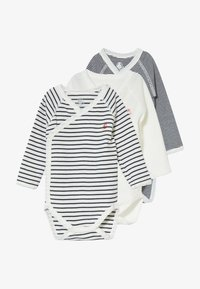 Petit Bateau - NAISS 3 PACK - Body - marshmallow/smoking - 3