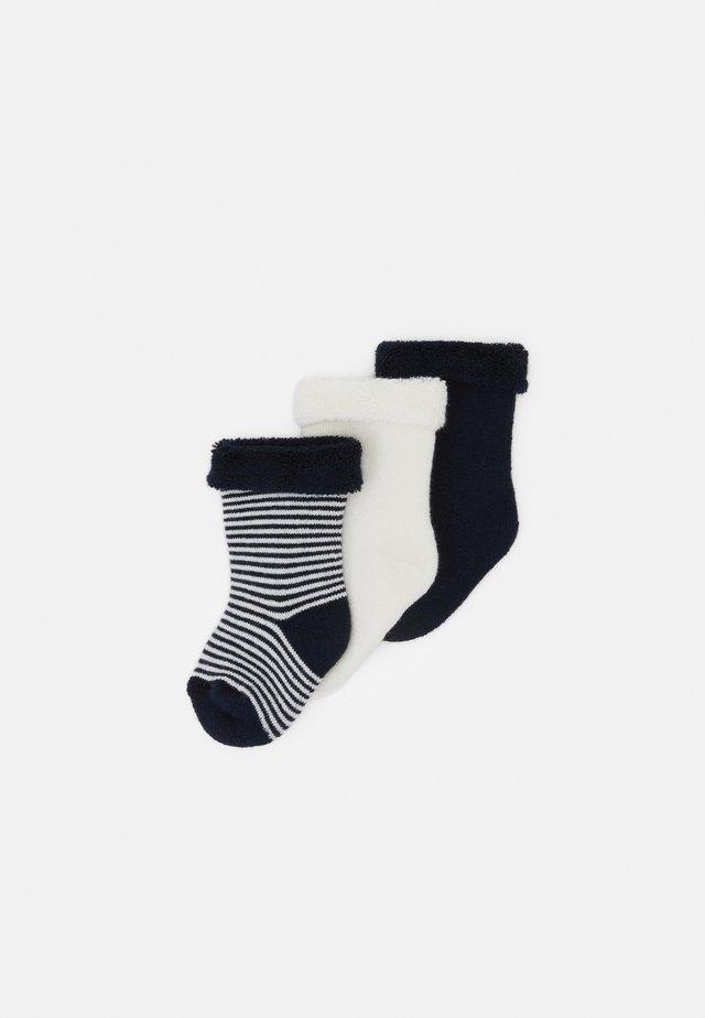 PAIRES CHAUSSETTE UNISEX  3 PACK - Socken - dark blue/white