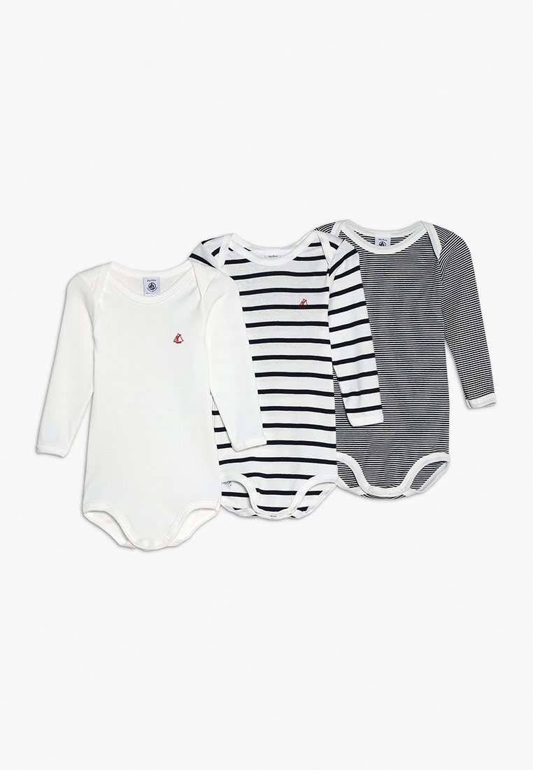 Petit Bateau - LOT BABY 3 PACK - Body - white