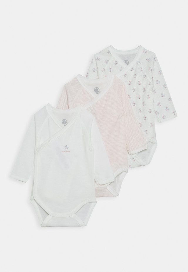 BABY 3 PACK - Body - pink/white