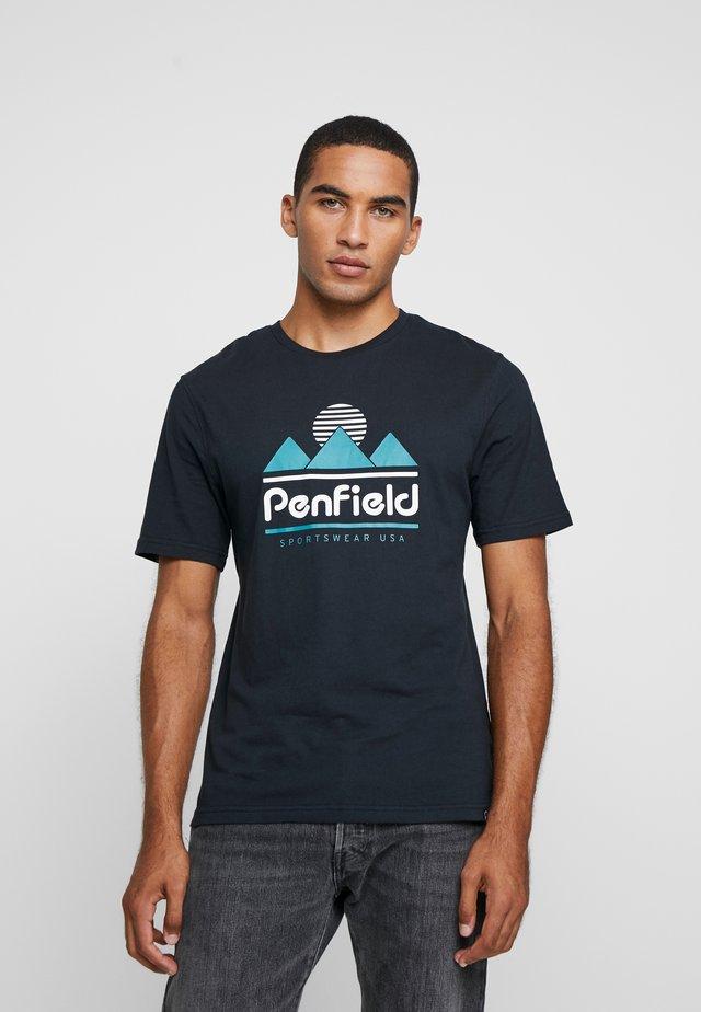 ABRAMS - T-shirt med print - black