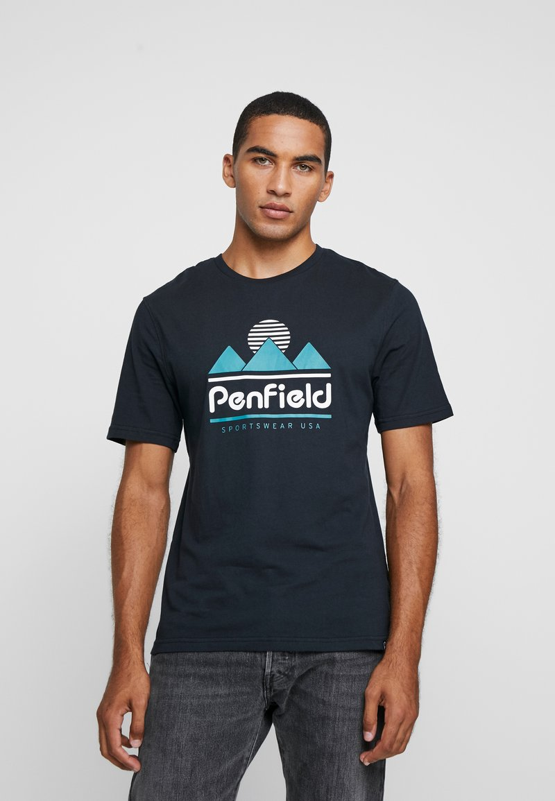 Penfield - ABRAMS - T-shirt con stampa - black