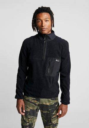 HYNES - Fleece jumper - black